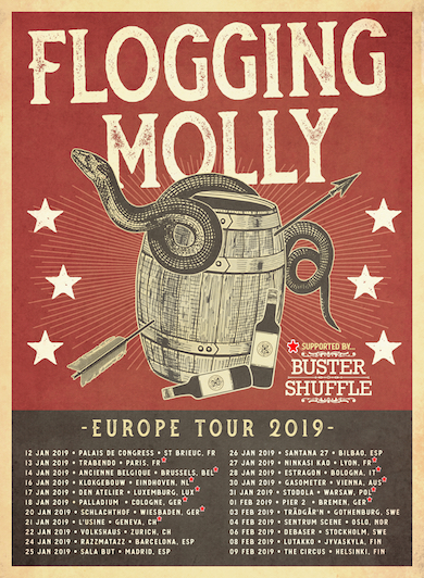 FloggingMolly Poster tour